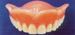 A photograph of a complete upper denture